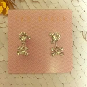 Ted Baker silver and cubic earrings